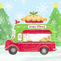 Food Cart Christmas III Mrs Clause Pies Framed Print