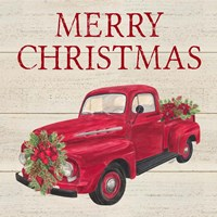 Home for the Holidays - Red Truck Fine Art Print
