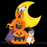 Fright Night Friends IV Pumpkin Stack Fine Art Print