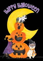 Fright Night Friends - Happy Halloween III Fine Art Print