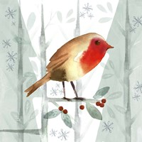 Christmas Hinterland III Robin Fine Art Print