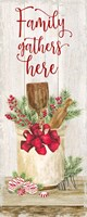 Christmas Kitchen panel I-Family Gathers Fine Art Print