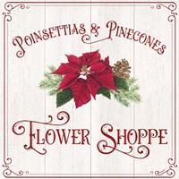 Vintage Christmas Signs III-Flower Shoppe Fine Art Print