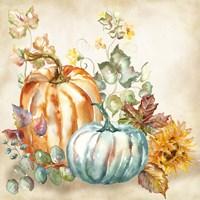 Watercolor Harvest Pumpkin I Fine Art Print