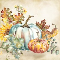 Watercolor Harvest Pumpkin III Fine Art Print