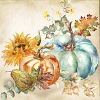 Watercolor Harvest Pumpkin IV Fine Art Print
