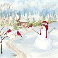 Snowman Christmas I Framed Print