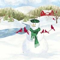 Snowman Christmas II Framed Print