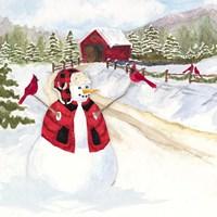 Snowman Christmas III Framed Print
