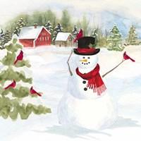 Snowman Christmas IV Framed Print