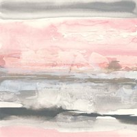 Charcoal and Blush II Fine Art Print
