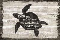 Driftwood Coast Scripture III Framed Print