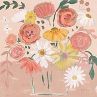 Folk Floral II Modern Fine Art Print