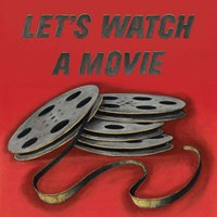 Lets Watch a Movie Red Fine Art Print