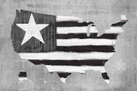 See the USA Americana BW Fine Art Print