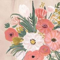 Vintage Floral IV Flipped Modern Fine Art Print