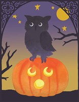 Halloween Critter III Light Owl Fine Art Print