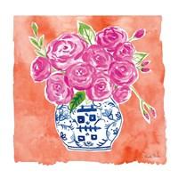Chinoiserie Roses II Fine Art Print