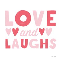 Love and Laughs Pink Fine Art Print
