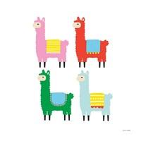 The Llamas Fine Art Print