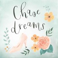Chase Dreams I Green Fine Art Print