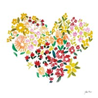 Flower Heart Fine Art Print
