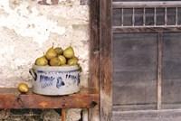 Bushel and a Peck Crock of Pears Fine Art Print