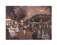 "Evening Street Scene by Christa Kieffer - 20"" x 16"""