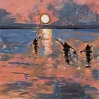 Sunset Kayaking Fine Art Print