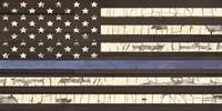 Vintage Thin Blue Line Flag Fine Art Print