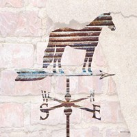 Industrial Horse Weathervane Fine Art Print