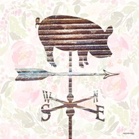Industrial Pig Weathervane Fine Art Print