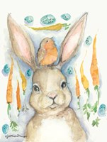 Rabbits and Carrots Oh My Fine Art Print