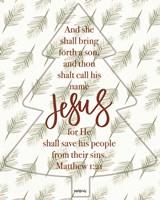 Call His Name Jesus Fine Art Print