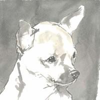 Sepia Modern Dog III Fine Art Print
