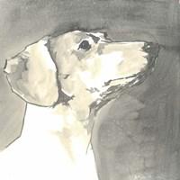 Sepia Modern Dog IV Fine Art Print