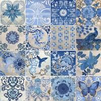Blue & White Tiles Fine Art Print