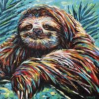 Painted Sloth I Fine Art Print
