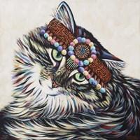 Hippie Cat I Fine Art Print