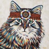 Hippie Cat II Fine Art Print