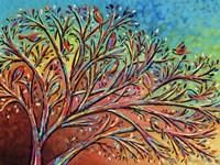 Sunrise Treetop Birds II Fine Art Print