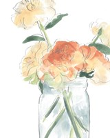 Soft Posy Sketch I Fine Art Print
