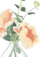 Soft Posy Sketch IV Fine Art Print