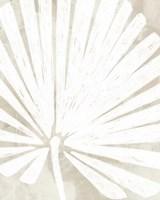Linen Tropical Silhouette IV Fine Art Print