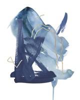 Indigo Collide II Fine Art Print