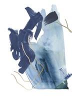 Indigo Collide III Fine Art Print
