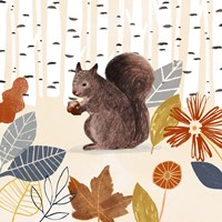 Cozy Autumn Woodland IV Fine Art Print