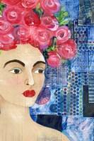 Flowers in her Hair I Fine Art Print