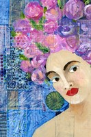 Flowers in her Hair II Fine Art Print
