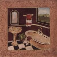 """Bath Retreat IV by Charlene Winter Olson - 12"""" x 12"""""""